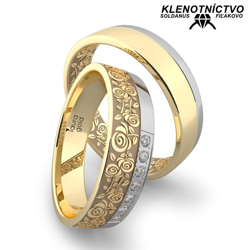 Svadobné obrúčky zlaté (gold ring) 1161