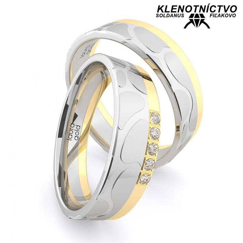 Svadobné obrúčky zlaté (gold ring) 1163