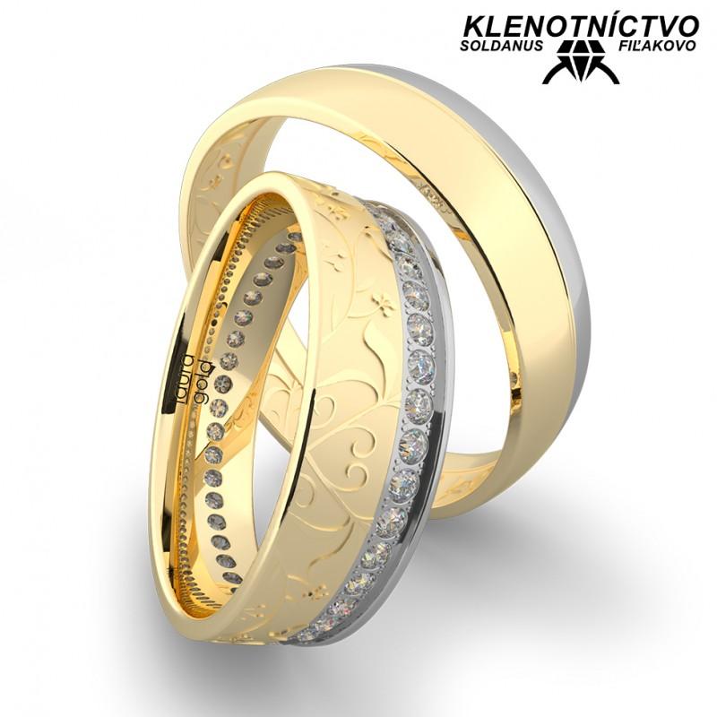 Svadobné obrúčky zlaté (gold ring) 1164