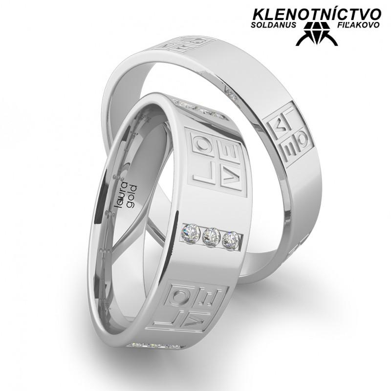 Svadobné obrúčky zlaté (gold ring) 1169