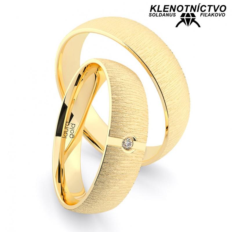 Svadobné obrúčky zlaté (gold ring) 1201