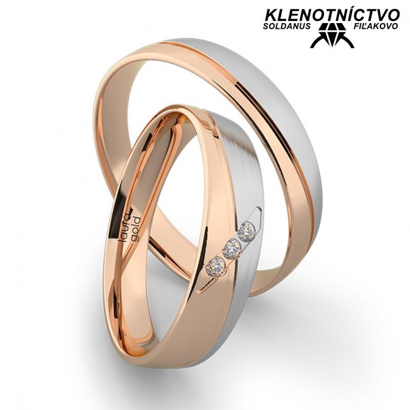 Svadobné obrúčky zlaté (gold ring) 1203