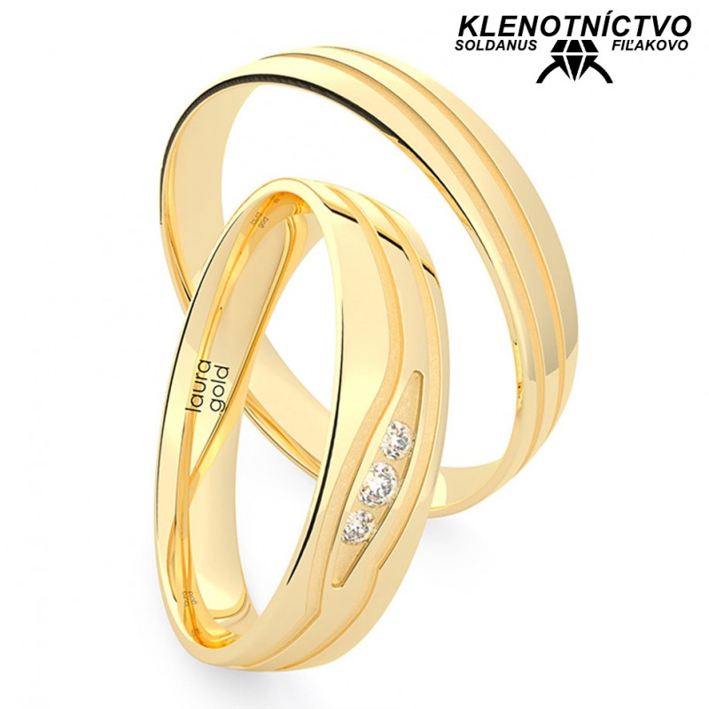 Svadobné obrúčky zlaté (gold ring) 1204