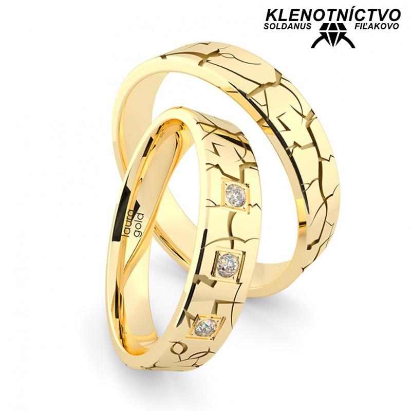 Svadobné obrúčky zlaté (gold ring) 1207