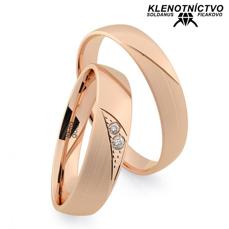 Svadobné obrúčky zlaté (gold ring) 1208