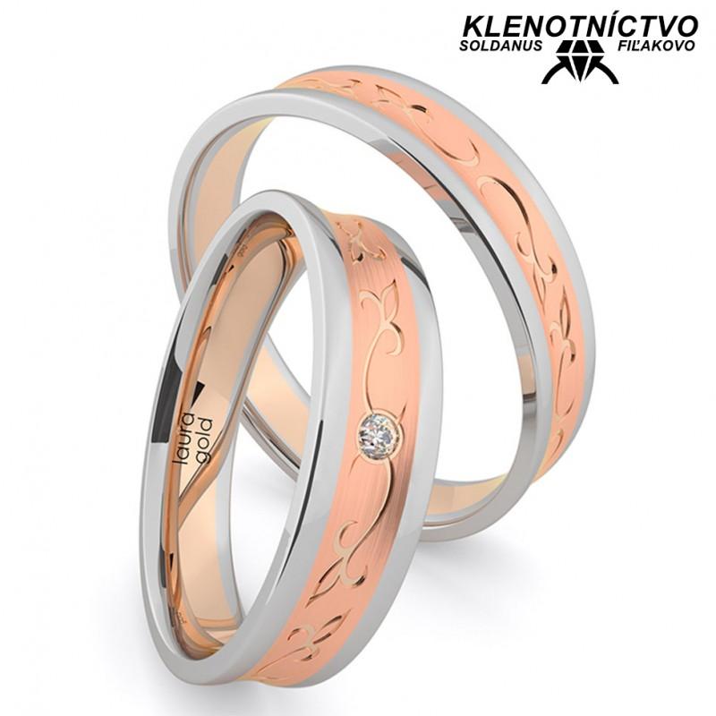 Svadobné obrúčky zlaté (gold ring) 1209