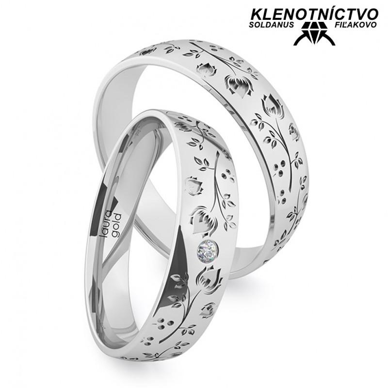 Svadobné obrúčky zlaté (gold ring) 1214