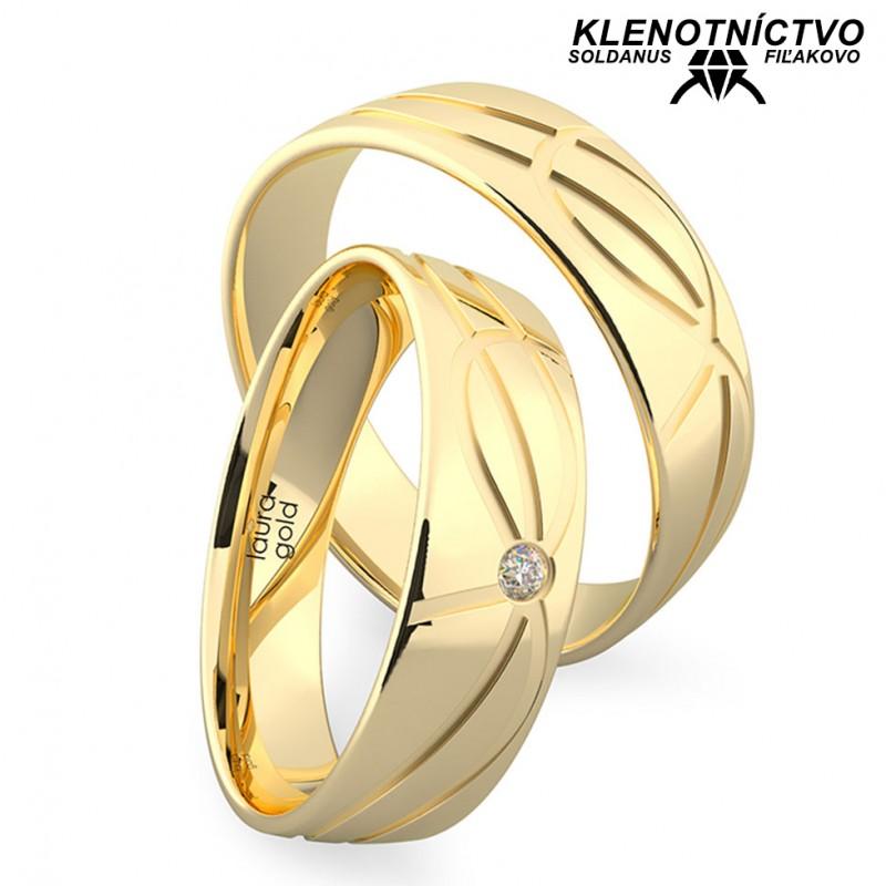 Svadobné obrúčky zlaté (gold ring) 1215