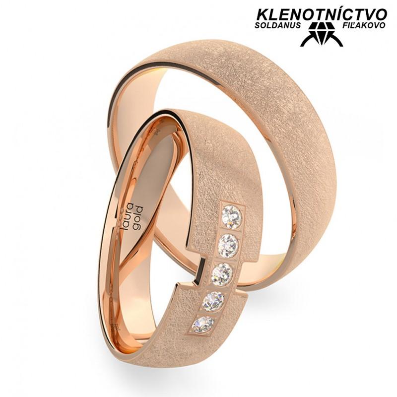 Svadobné obrúčky zlaté (gold ring) 1218