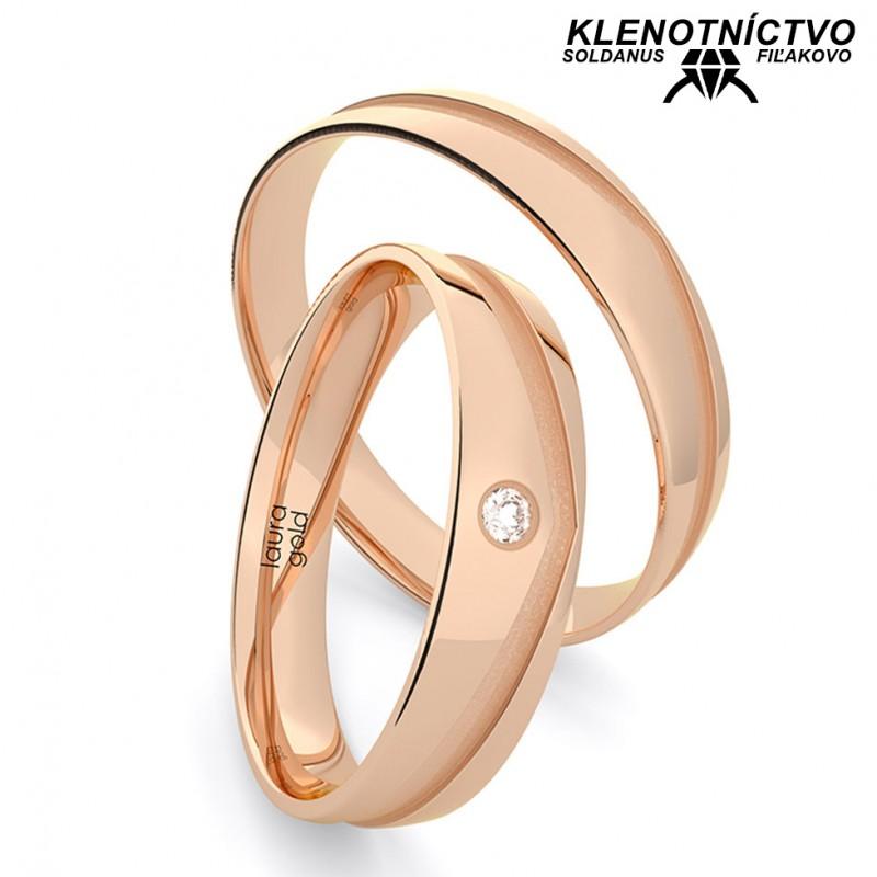 Svadobné obrúčky zlaté (gold ring) 1219