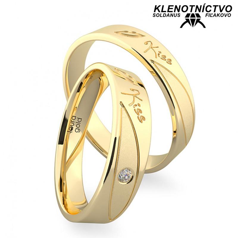 Svadobné obrúčky zlaté (gold ring) 1220