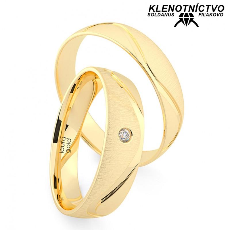Svadobné obrúčky zlaté (gold ring) 1222