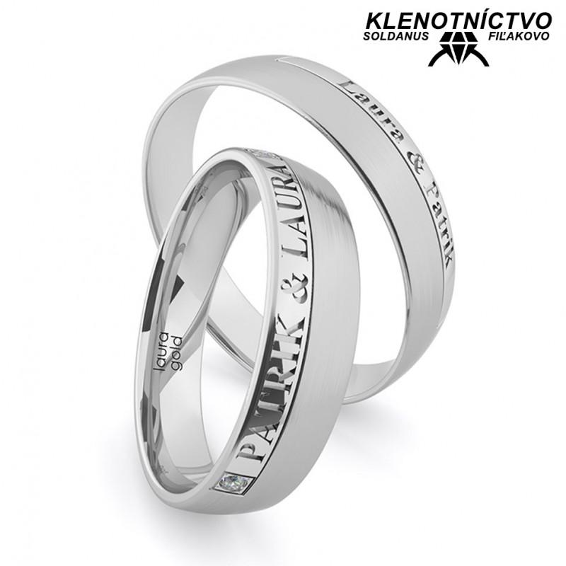 Svadobné obrúčky zlaté (gold ring) 1223