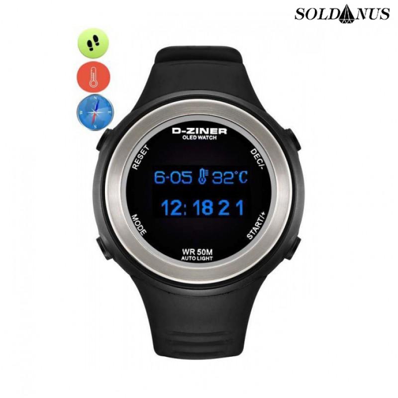 D-ZINER športové hodinky black