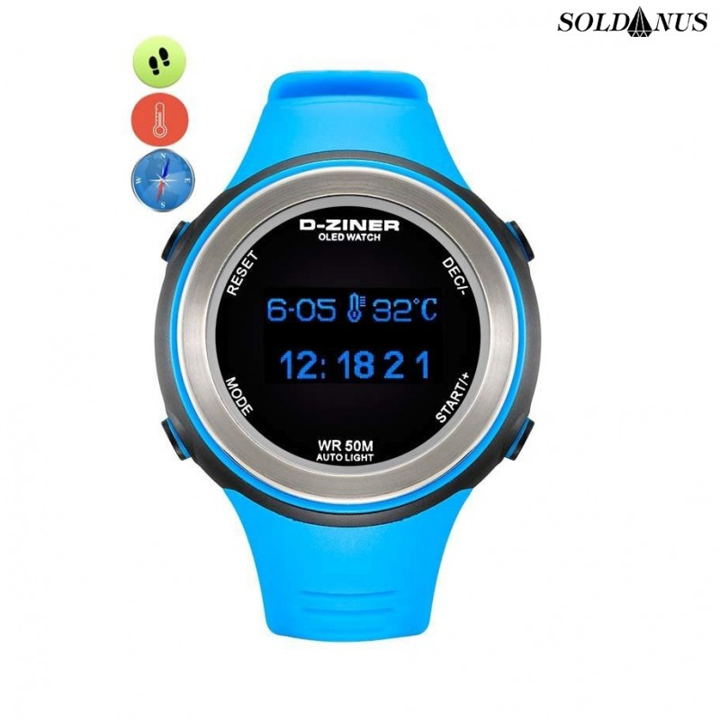 D-ZINER športové hodinky blue