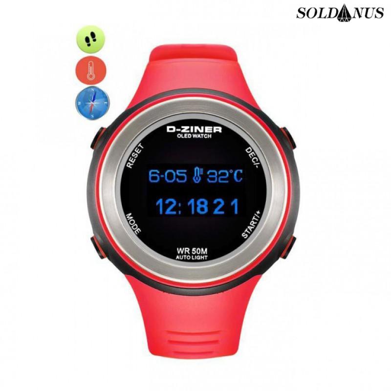 D-ZINER športové hodinky red