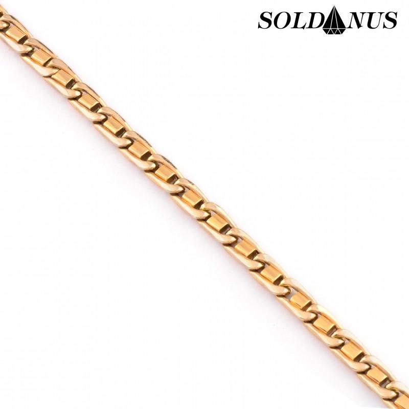 Zlatý náramok 23cm