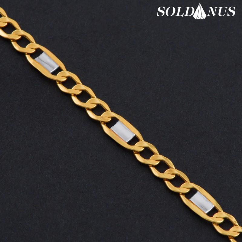 Zlatý náramok dvojfarebný 210mm