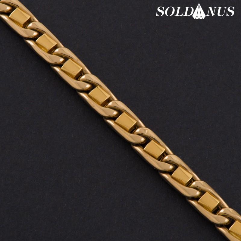 Zlatý náramok 230mm pánsky