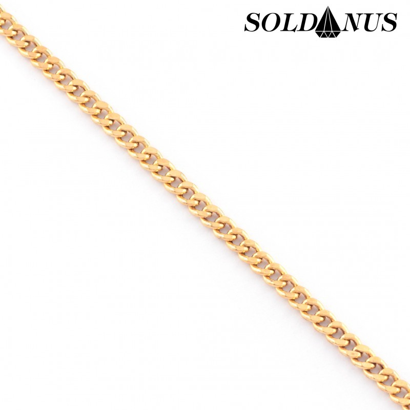 Zlatý náramok 19cm