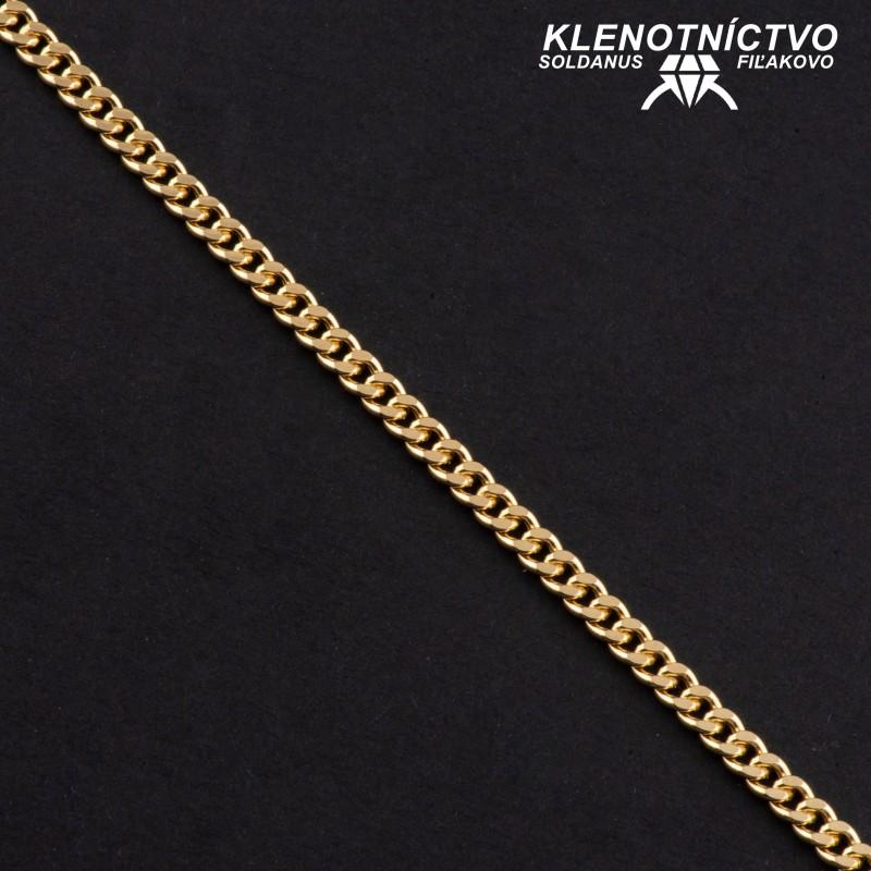 Zlatý náramok 220mm