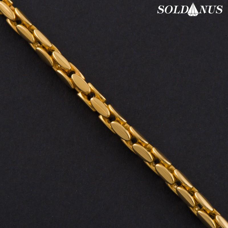 Zlatý náramok 220mm pánsky