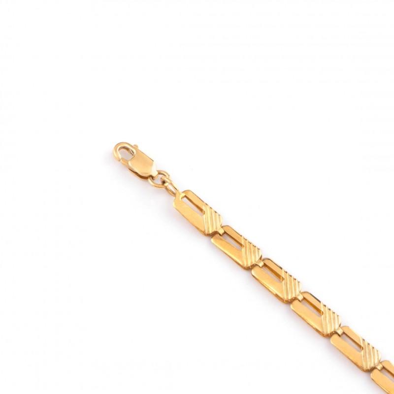 Zlatý náramok 20cm