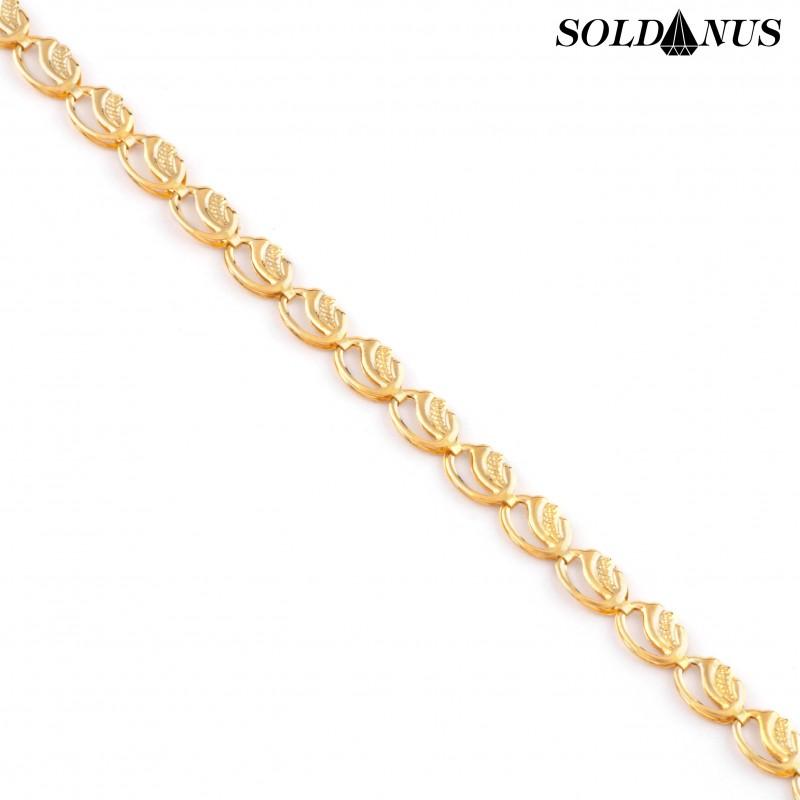Zlatý náramok dámsky 20cm
