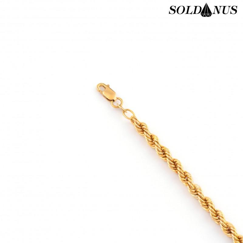 Zlatý náramok dámsky 21cm