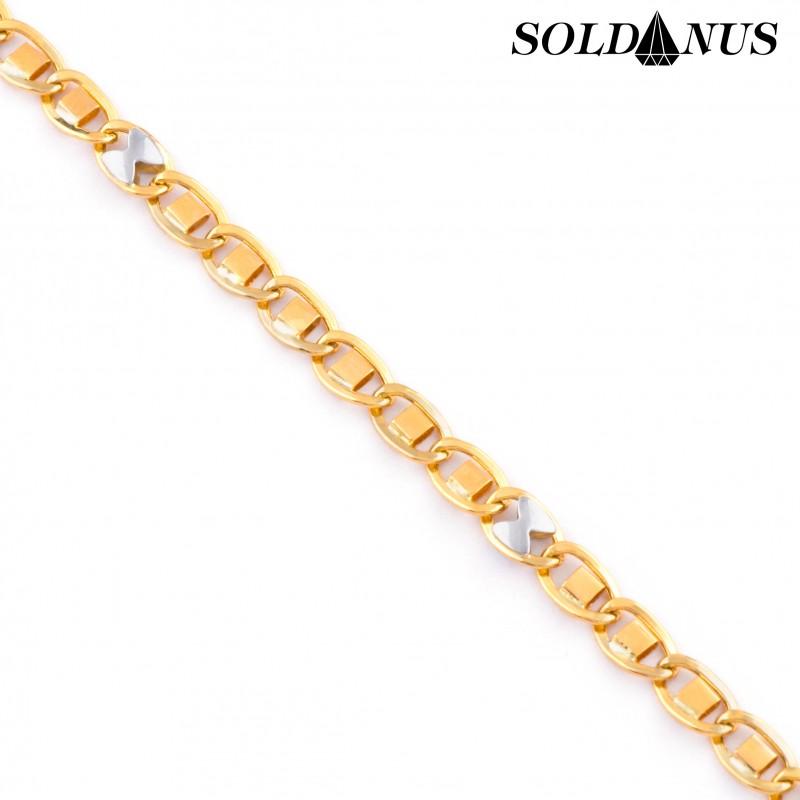 Zlatý náramok 22cm