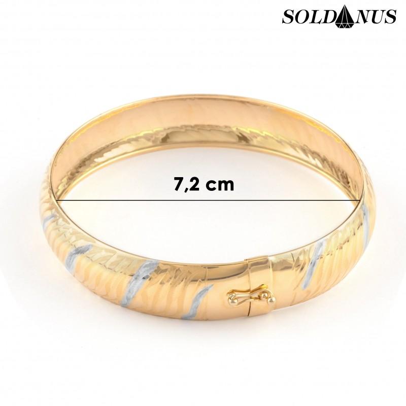 Zlatý náramok kruhový priemer 7,2cm
