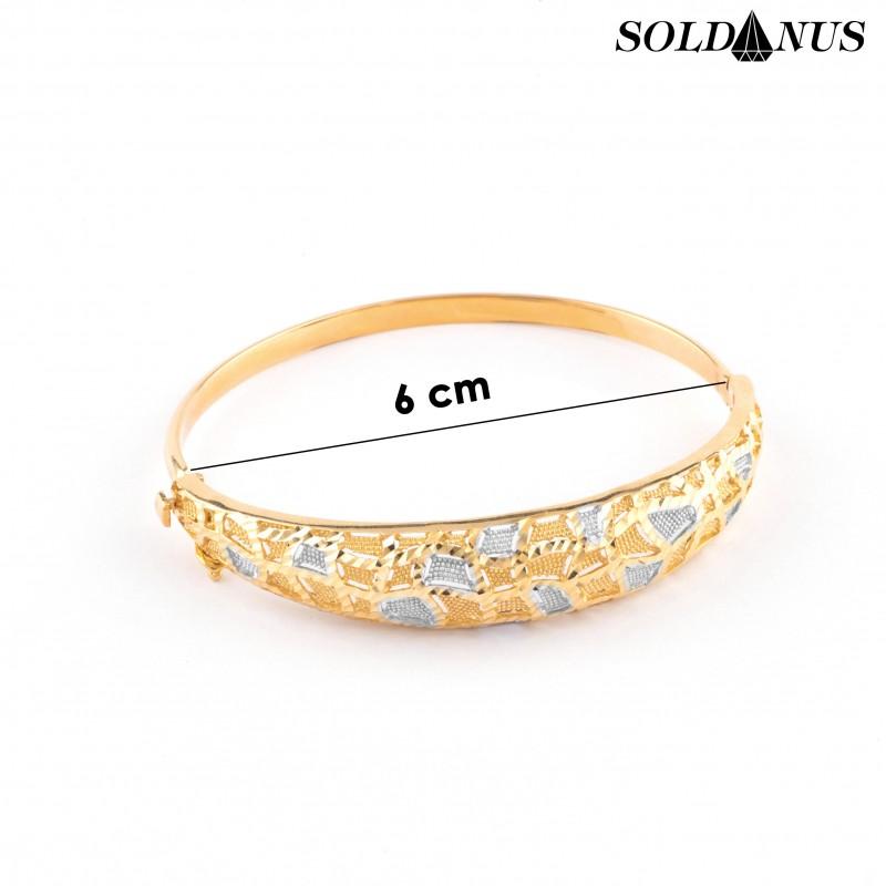Zlatý náramok kruhový priemer 6,0cm
