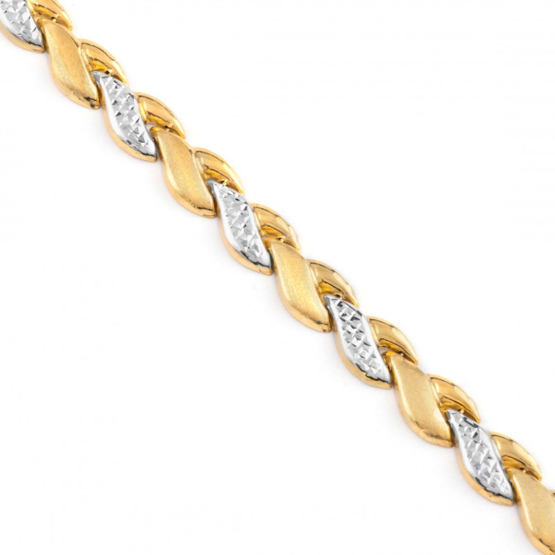 Zlatý náramok dámsky dvojfarebný 20cm