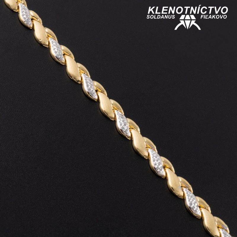 Zlatý náramok dvojfarebný 200mm