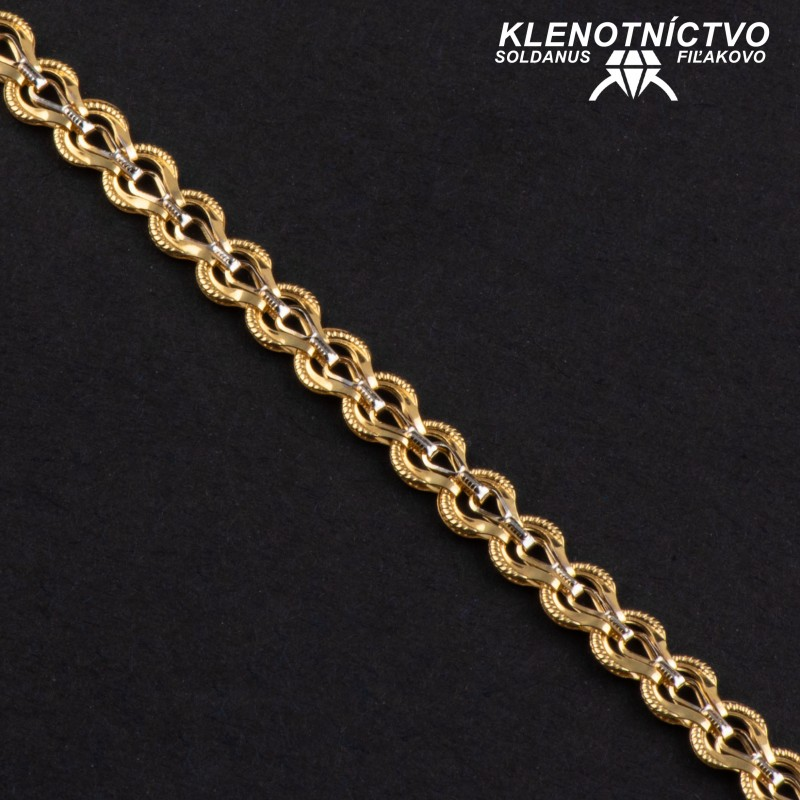 Zlatý náramok 180mm