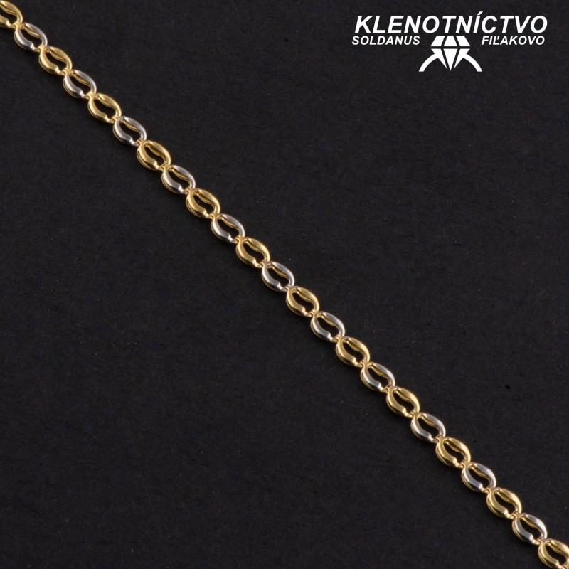 Zlatý náramok drojfarebný 190mm
