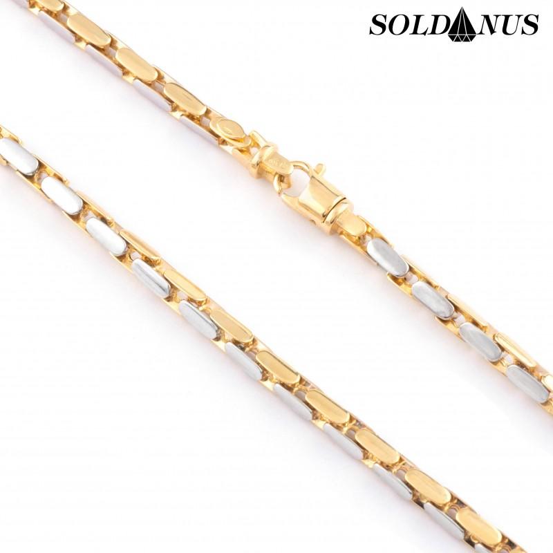 Zlatá retiazka dvojfarebná 60cm