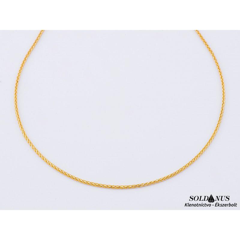 Zlatá retiazka dvojfarebná 500mm