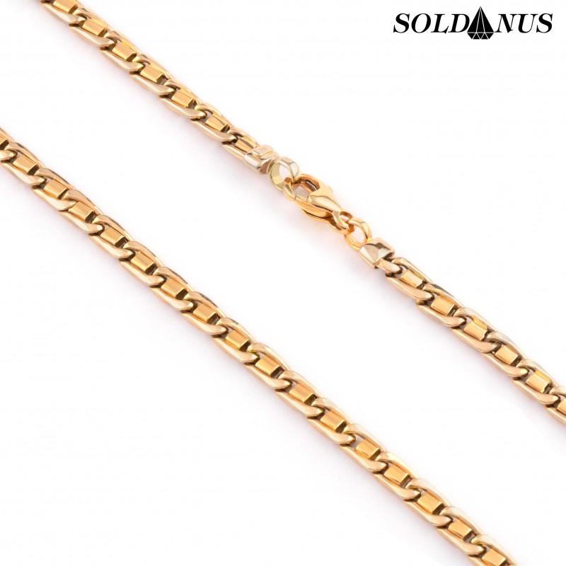 Zlatá retiazka 60cm, Hrúbka: 4,5mm