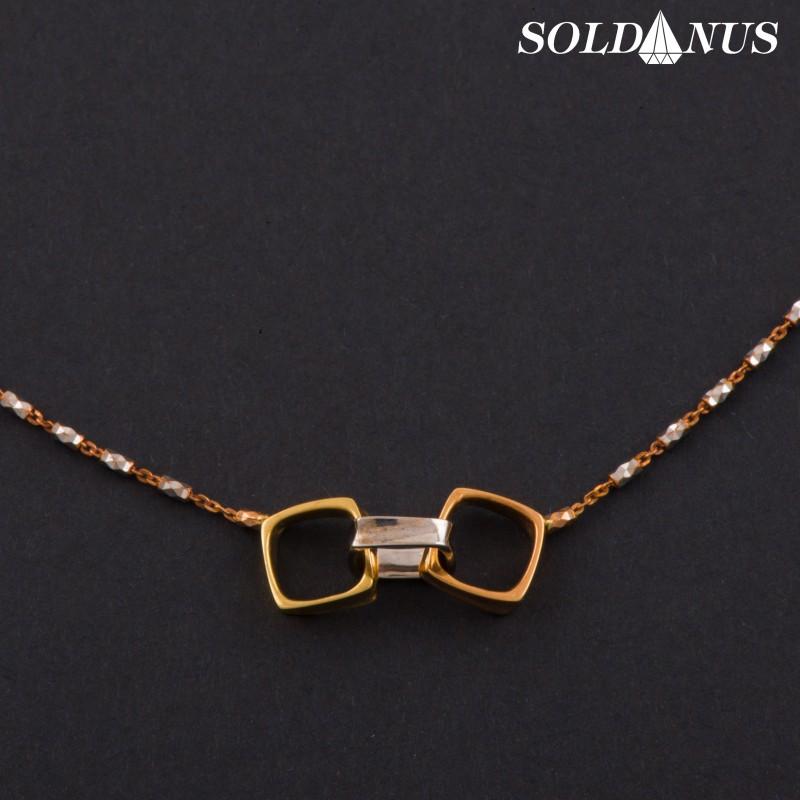 Zlatá retiazka náhrdelník trojfarebný 45 + 3cm