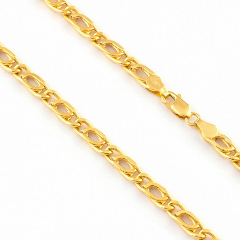 Zlatá retiazka 60cm, Hrúbka: 5mm
