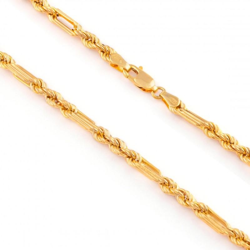 Zlatá retiazka 45cm, Hrúbka 4mm