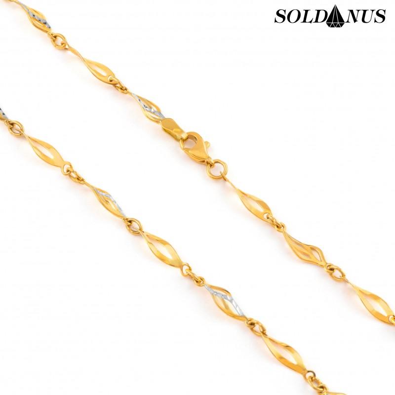 Zlatá retiazka dvojfarebná 45cm