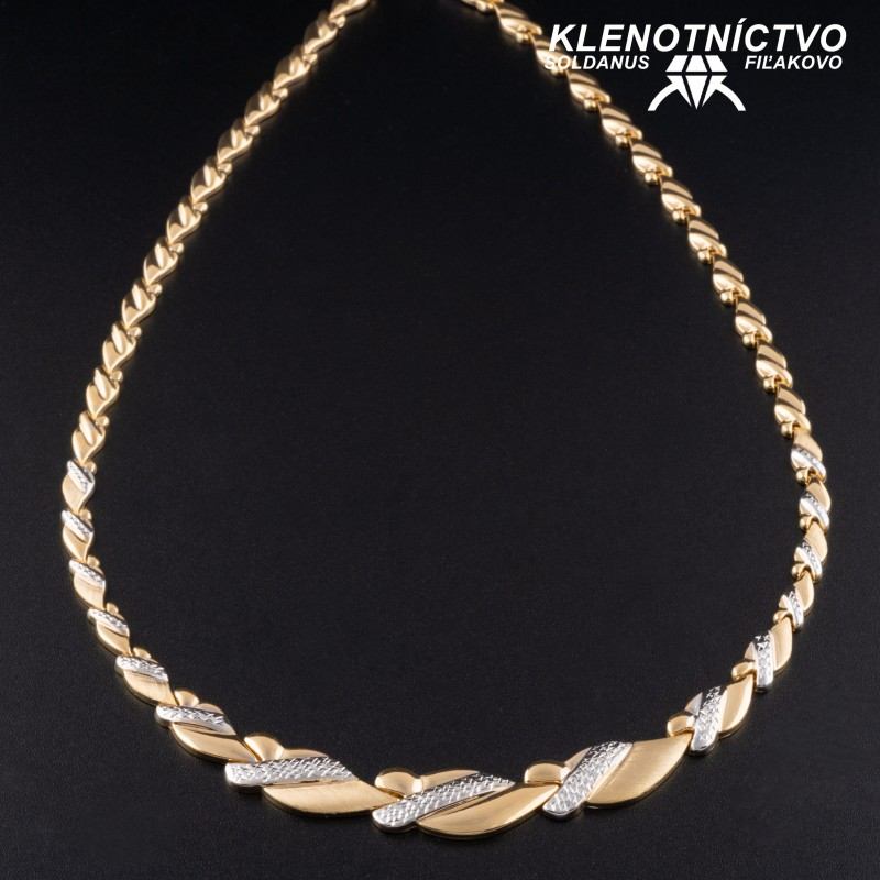 Zlatý náhrdelník dvojfarebný