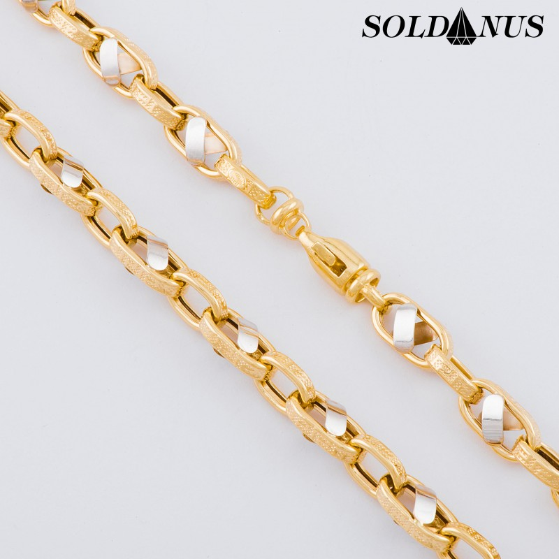 Zlatá retiazka dvojfarebná