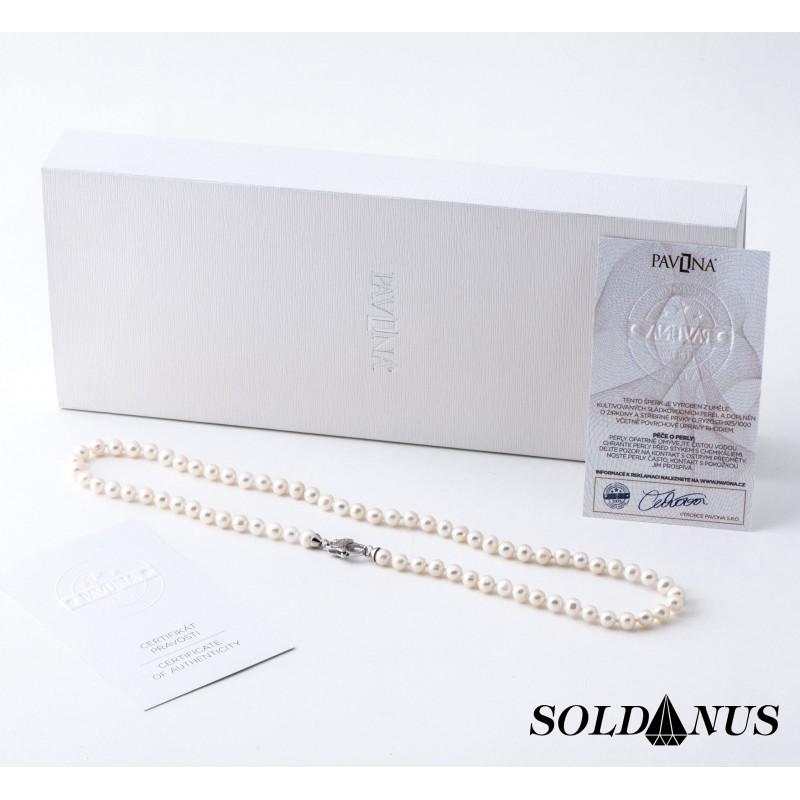 Náhrdelník riečna perla 6mm