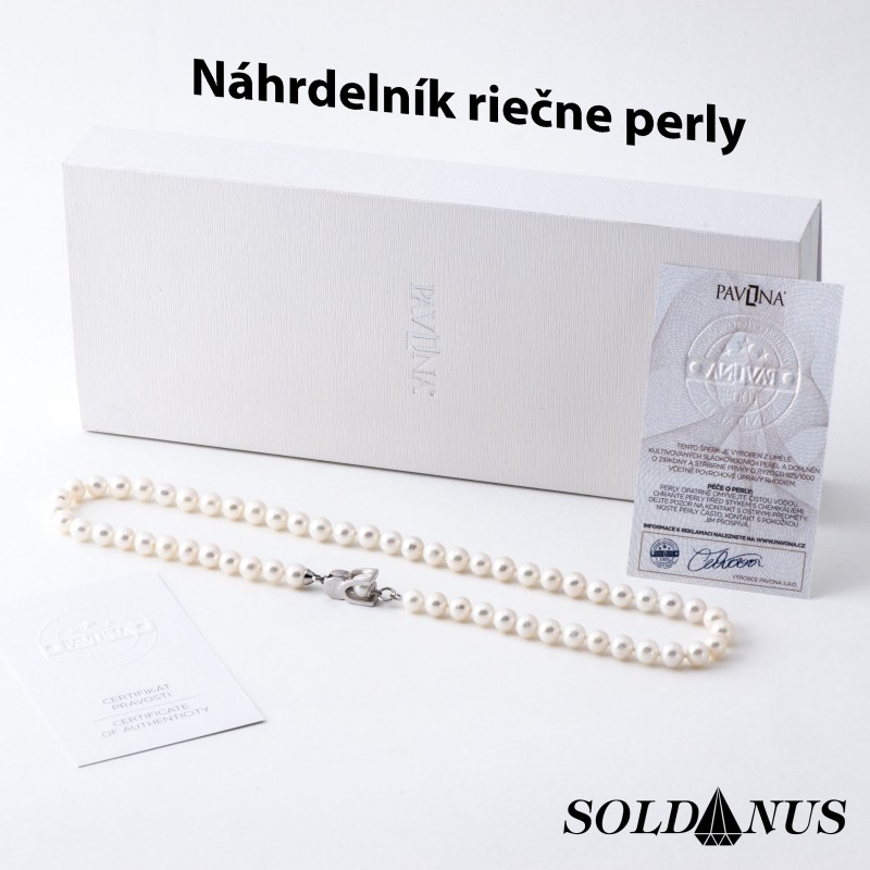 Náhrdelník riečna perla 8mm